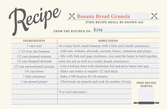 Recipe Granola